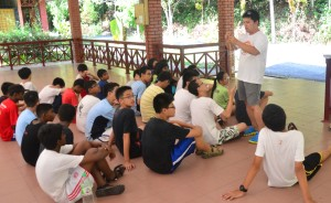 04 Orienteering - Cmdr Chee Wah teaching how to use a compass1