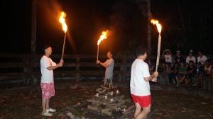 11 commanders lighting the fire ceremony