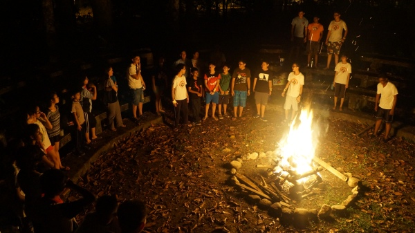 13 singing around the campfire
