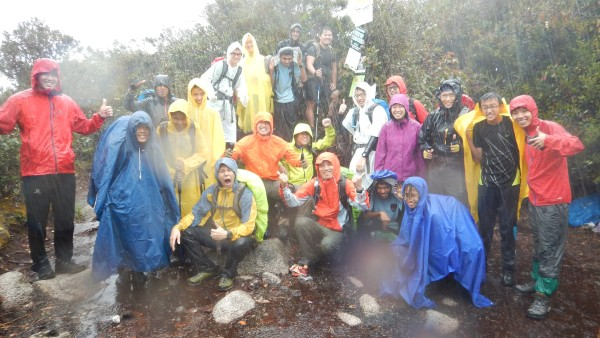 Rangers & Rain at the summit