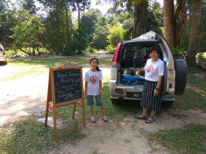 Food truck at camp